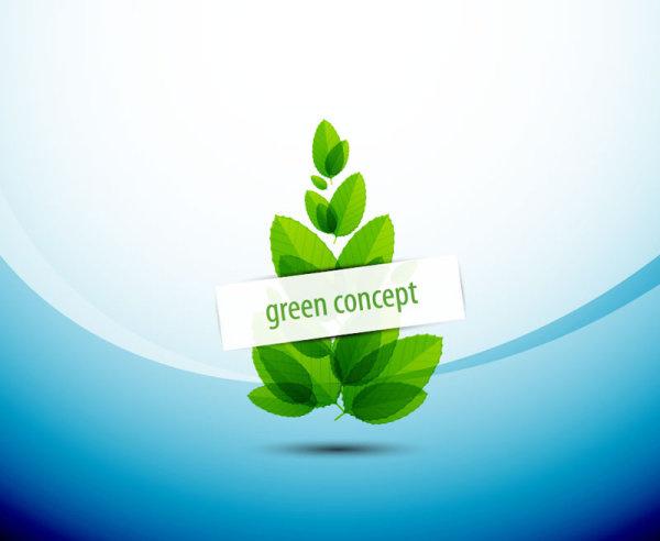 Green Concept Eco Elements Backgorund Vector