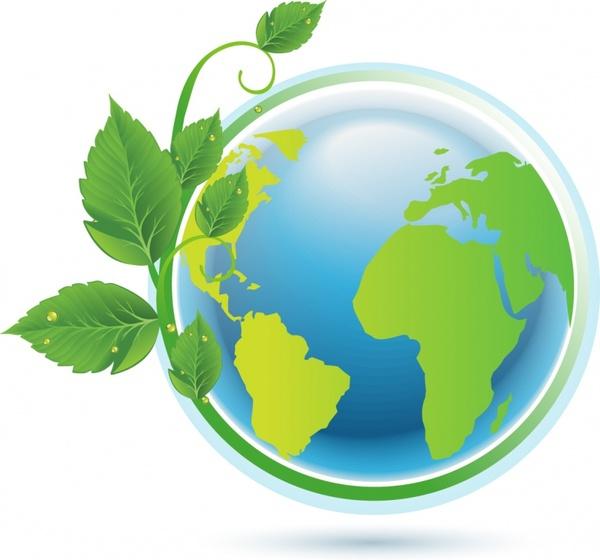 Green Earth Concept Free Vector In Adobe Illustrator Ai Ai