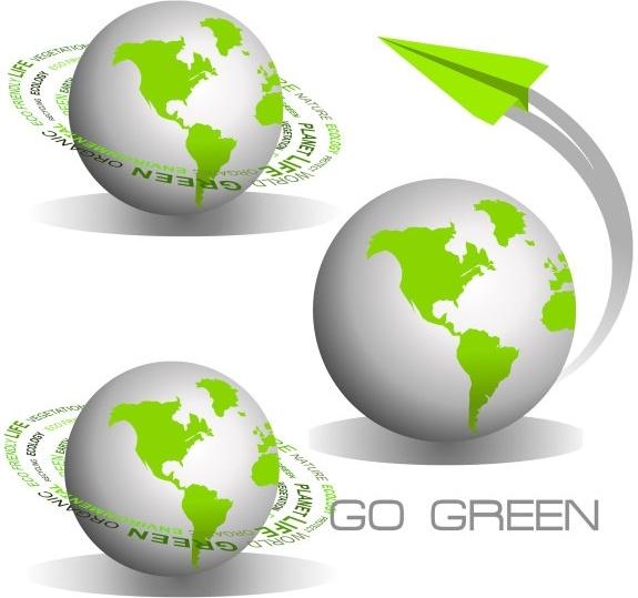 green earth icon vector