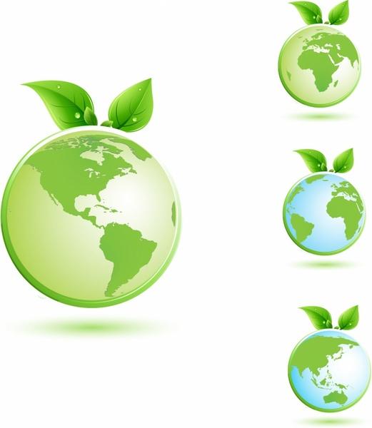 Green earth illustration