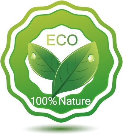 Green Eco Friendly Badge Free Vector In
