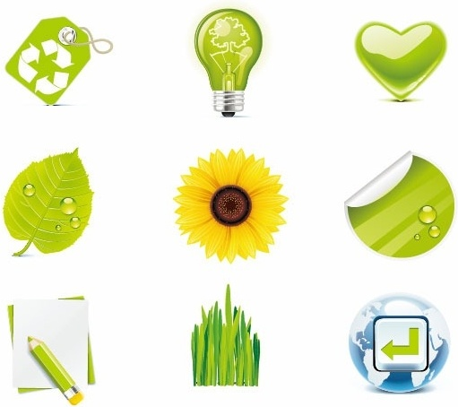 Green Eco Vector Icons