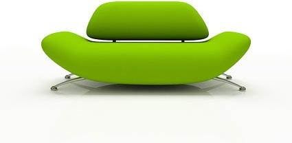 green fashion sofa picture