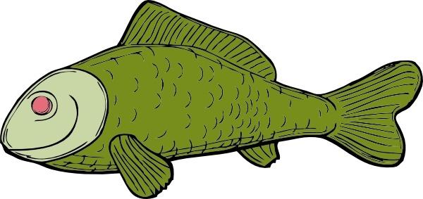 Green Fish clip art
