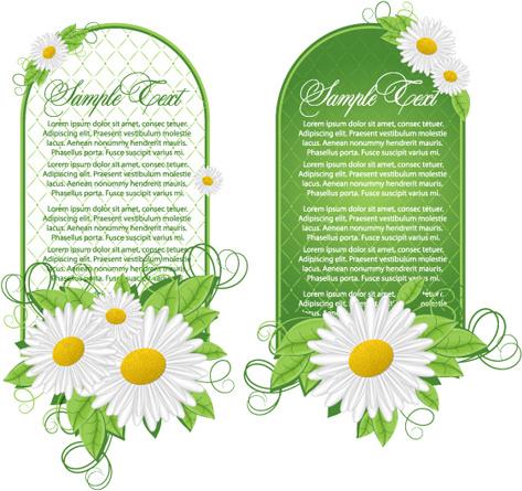 green floral frame vector set