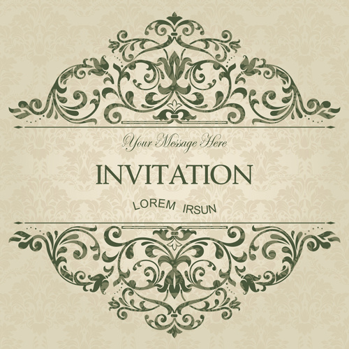 engagement invitation card free vector download  13 028