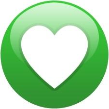 Green globe heart
