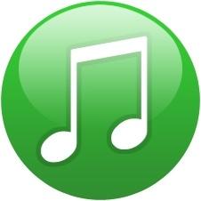 Green globe musical note