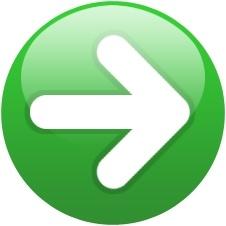 Green globe right arrow