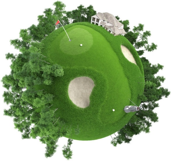green golf course in polar coordinates definition picture