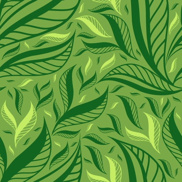 Green Leaf Background 01 Vector Free Vector In Encapsulated