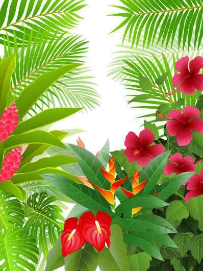 Green Leaf Flower Background