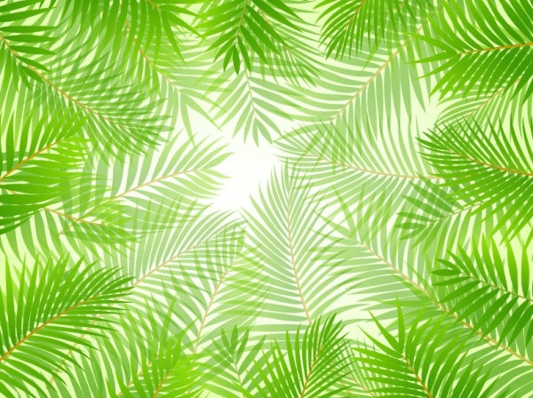 green leaves theme background 01 vector