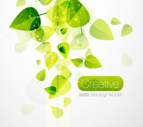 nature background green leaves decor modern transparent design
