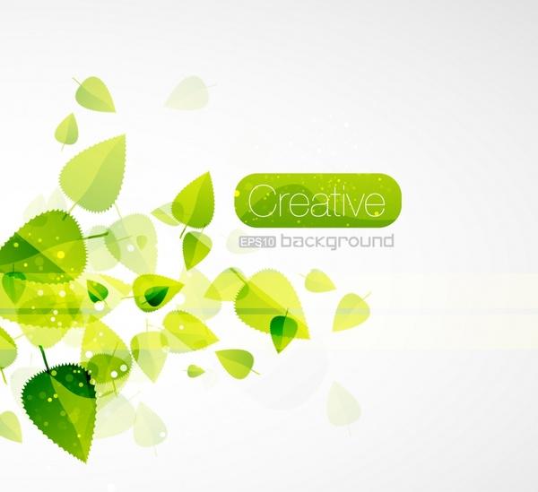 nature background modern green blurred leaves decor
