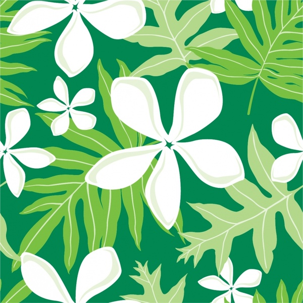 nature background white flowers green leaves ornament