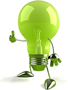 green light bulb kid picture