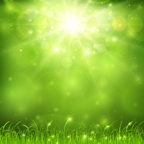 green nature and sunlight background vector free vector in