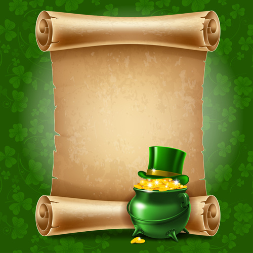 green saint patrick day background vector
