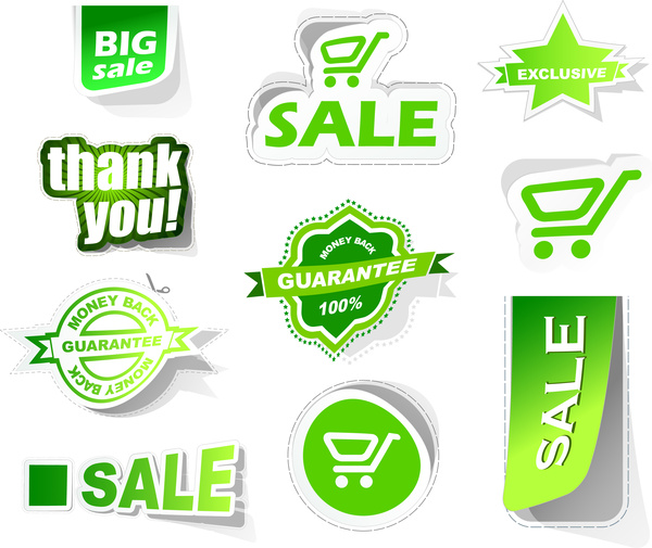 green sale tags