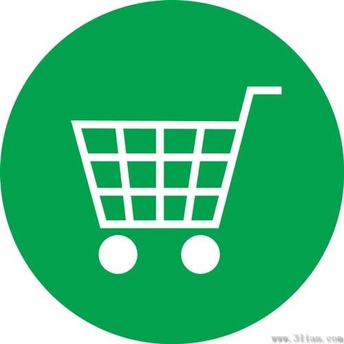 green shopping cart icon vector free vector in adobe illustrator ai