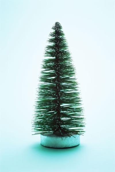 green simple christmas tree