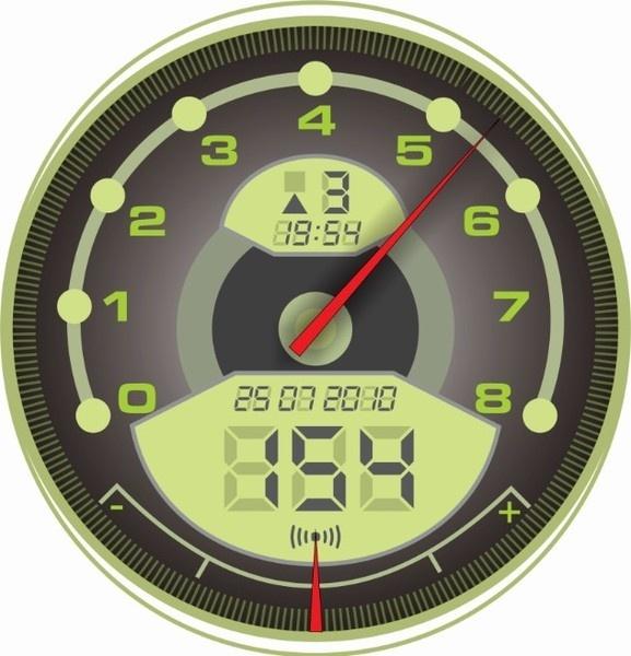 Green Speedometer Free Vector In Coreldraw Cdr ( .cdr