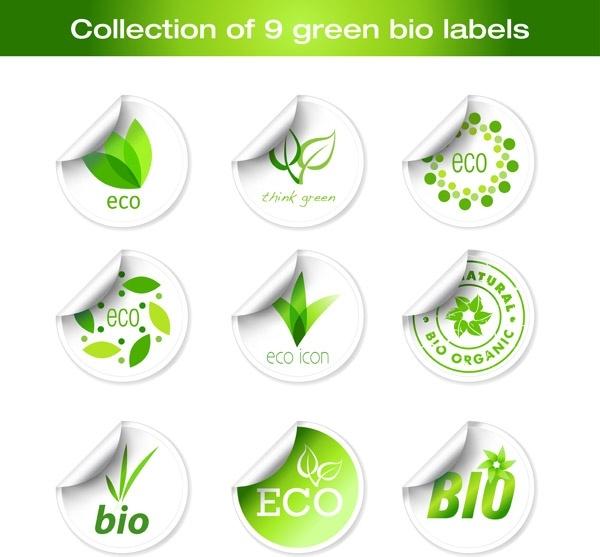 green sticker icon vector