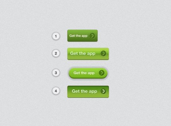 green texture button psd layered