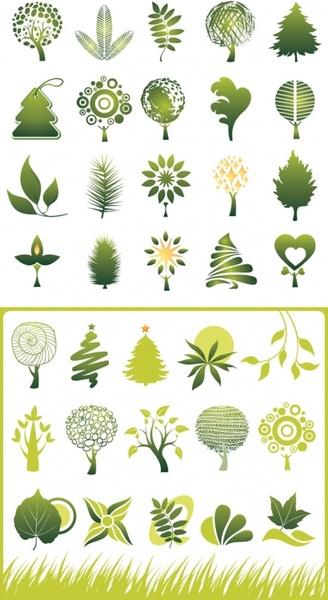 green theme icon vector