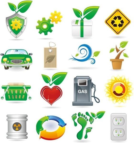 Green Theme Vector Icons