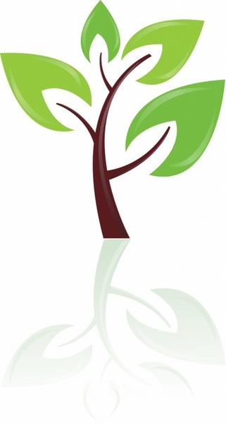 Green tree design element