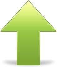 Green up arrow