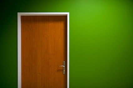 green walls and doors of picture