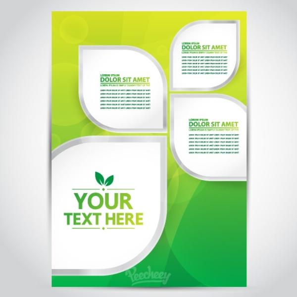 Green Yellow Brochure Free Vector In Adobe Illustrator Ai Ai - Template brochure free download