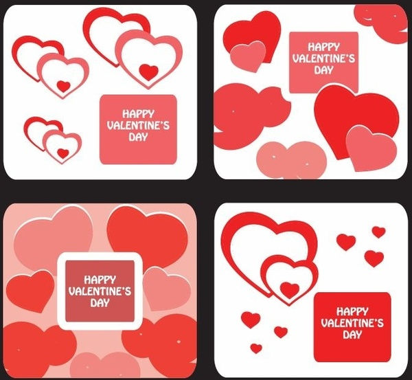 Greeting card templates for valentine day free vector in greeting card templates for valentine day maxwellsz