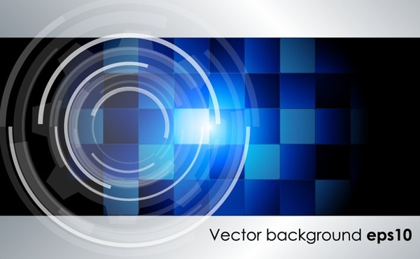 abstract modern background blue checkered circle decoration