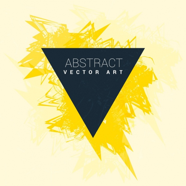 grunge abstract background yellow handdrawn decor triangle shape