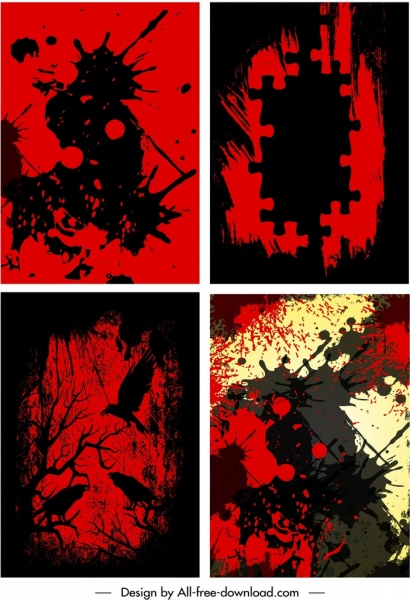 grunge background templates dark color blend horror design