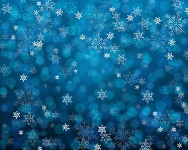 grunge blue snowy background