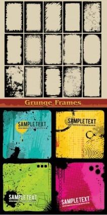 grunge ink frame vector design