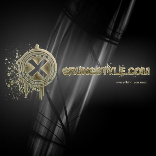 Grunge Logo -Free PSD Logo