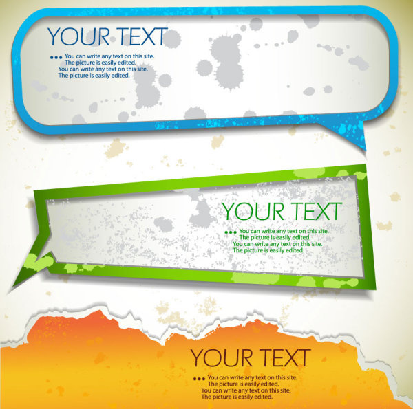 Grunge Of Speech Frames Labels Vector Free Vector In Encapsulated