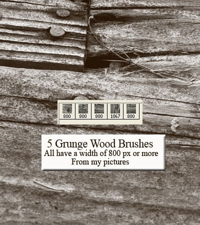 Grunge Wood Brushes