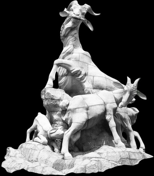 guangzhou wuyang sculpture psd