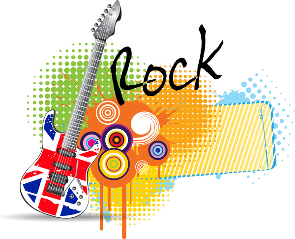 guitar rock music background