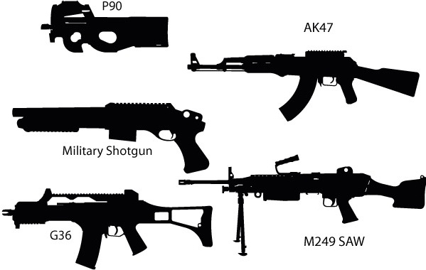 ak47 free vector download (15 free vector) for commercial use