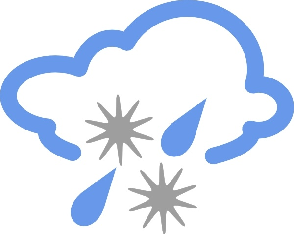 hail and rain weather symbol clip art free vector in open Hail Clip Art