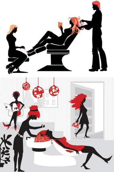 hair illustrator vector