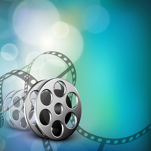 halation movies film art background vector